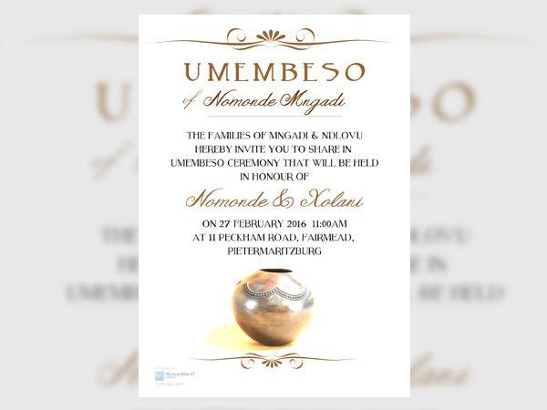 19 inspiring umembeso invitation card photos in 2020