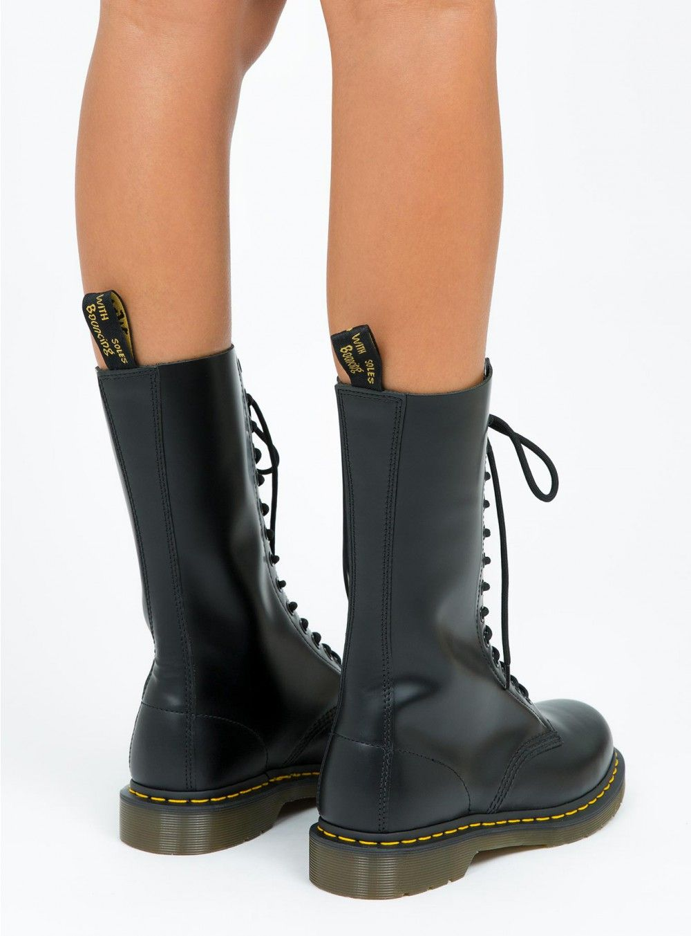 00eb3a9e6478f Dr. Martens 1914 14 Eye Smooth Boots    wear with black denim skirt ...