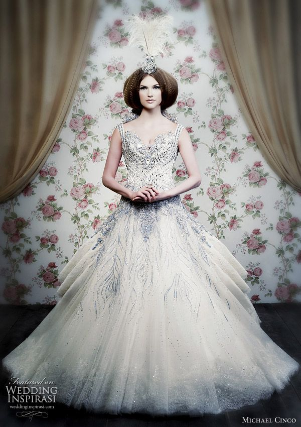 Peacock Inspired Wedding Gown