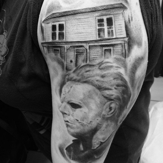 Amazing halloween mike myers tattoo by adrenaline vancity for Michael myers tattoo