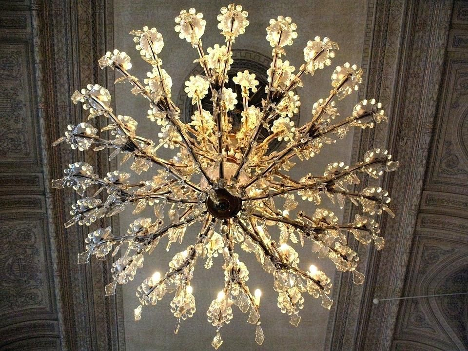 Antique Crystal Chandelier Table Lamps Free Photo Crystals