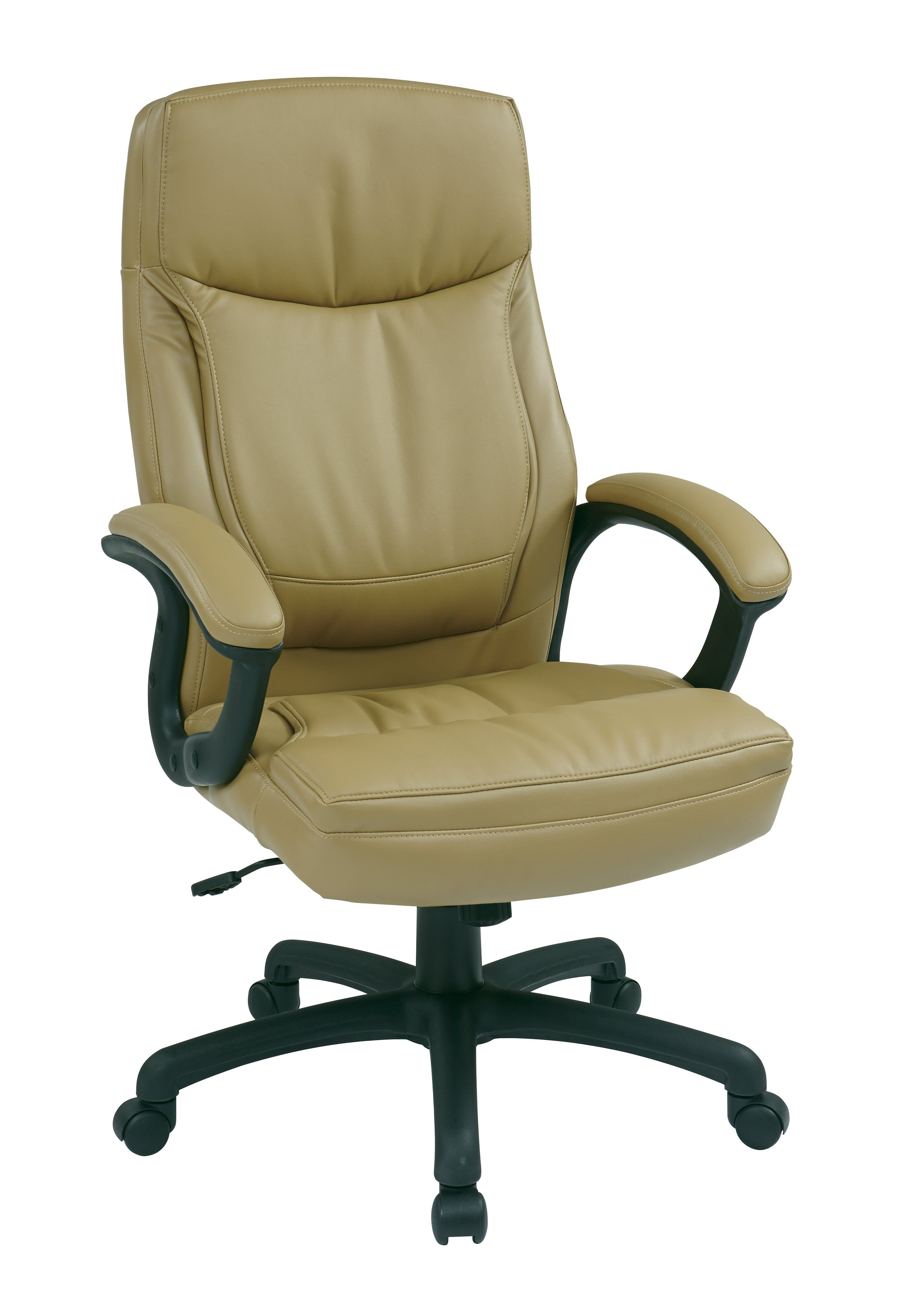fice Star Tan Executive High Back Bonded Leather Chair