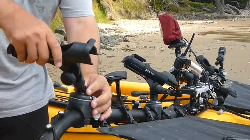 This kayak is rigged to the max with Railblaza kayak accessories. These accessories make paddling and fishing easier and more fun! What do you think about this set up?