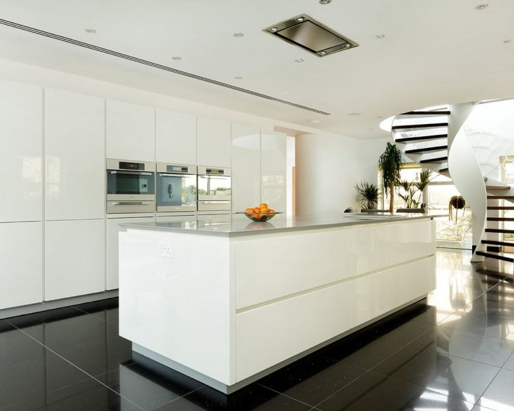 Fesselnd Barbican   Alno Star Highline   High Gloss White Kitchen   Miele Appliances    Corian Worktops   Barbican   Alno Star Highline   High Gloss W.