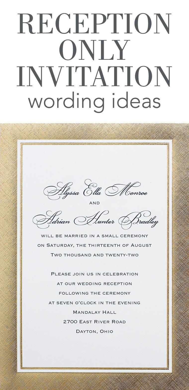 Reception Only Invitation Wording Dance