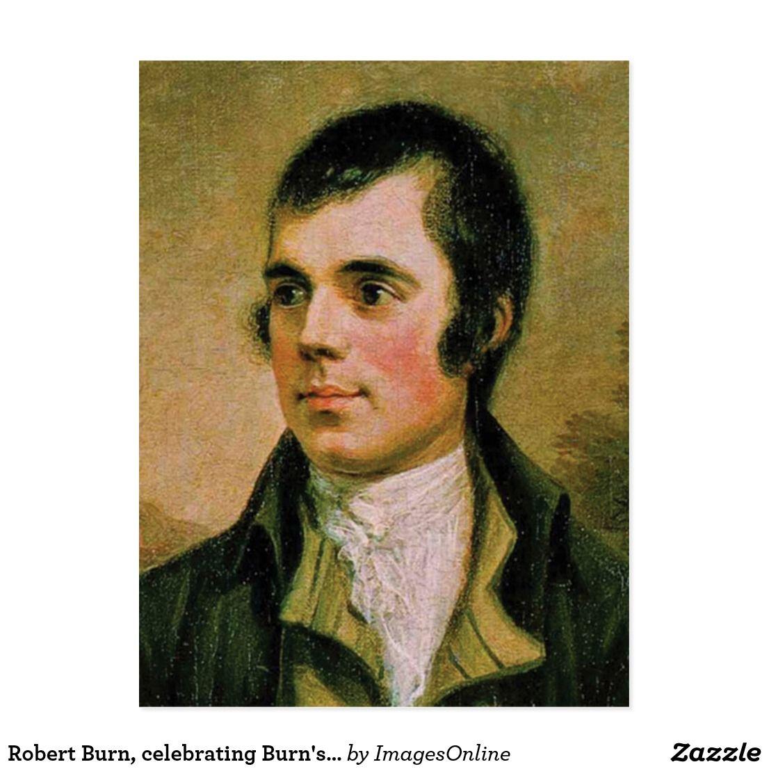 Robert Burn Celebrating Burns Night Postcard British Foods