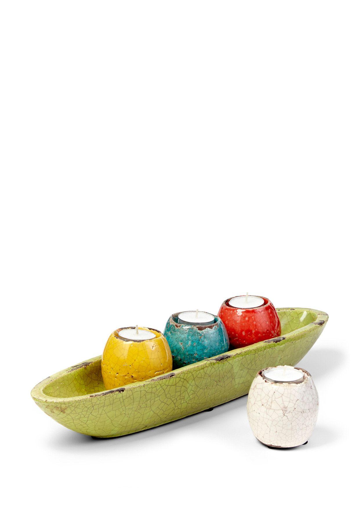 Ideeli imax set of mercade tealight candle holders in tray