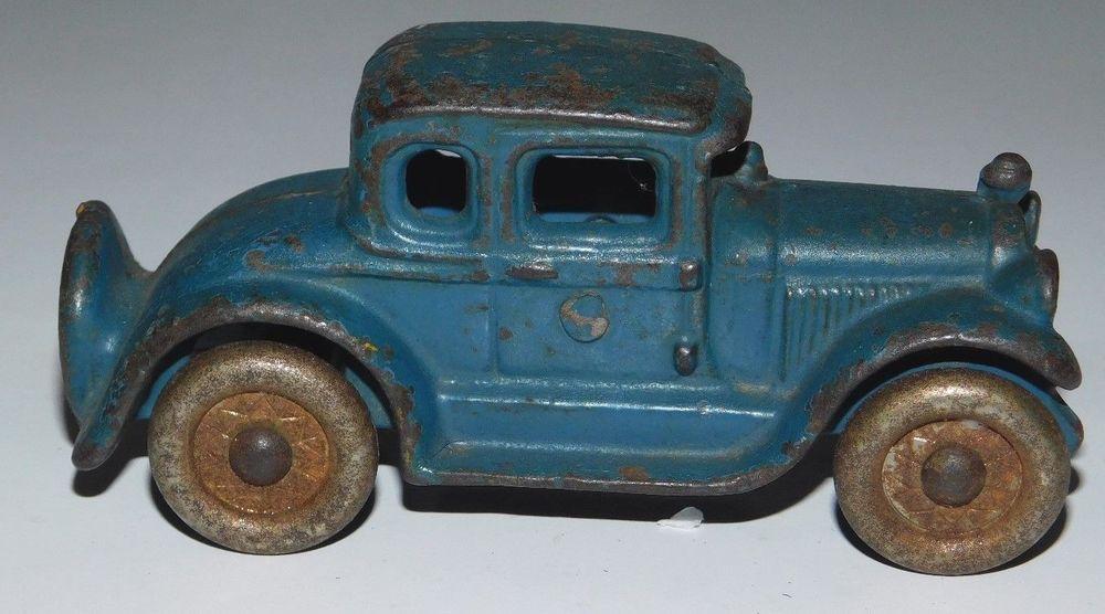 A C Williams Cast Iron Coupe Car Acwilliams Vintage Toy