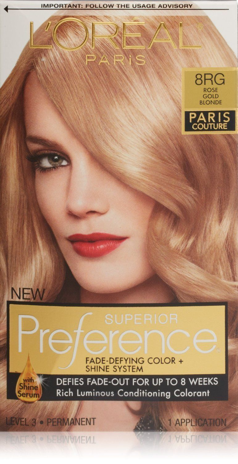 l oreal paris superior preference 8rg rose gold blonde pack of 2