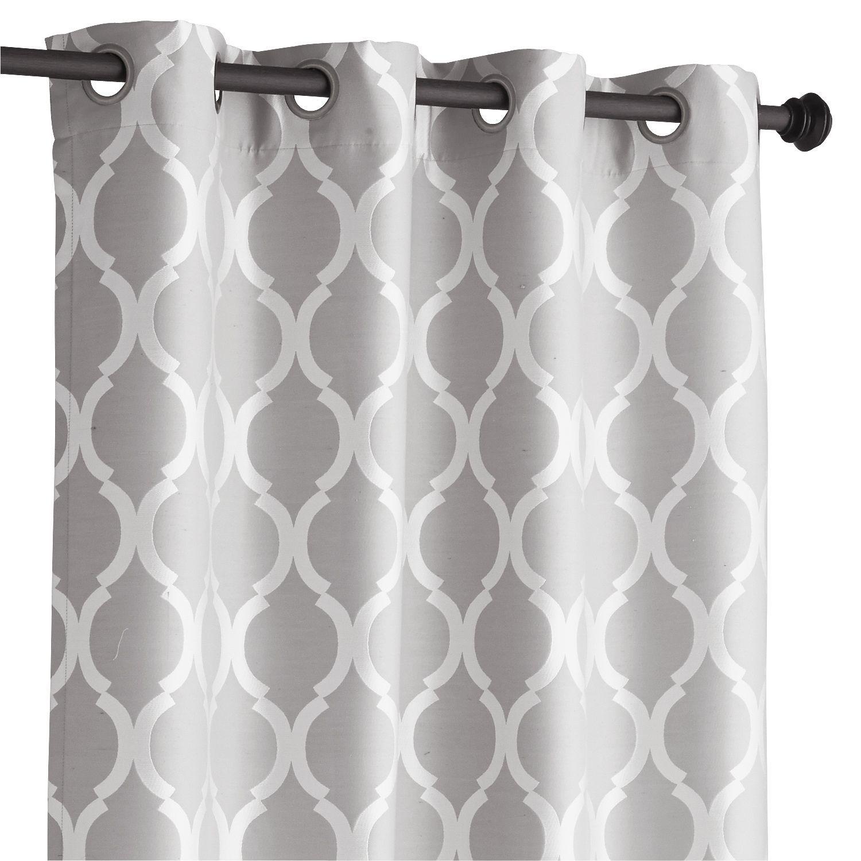 Moorish Tile Curtain Gray 84 Grey Curtains Curtains Grommet Curtains