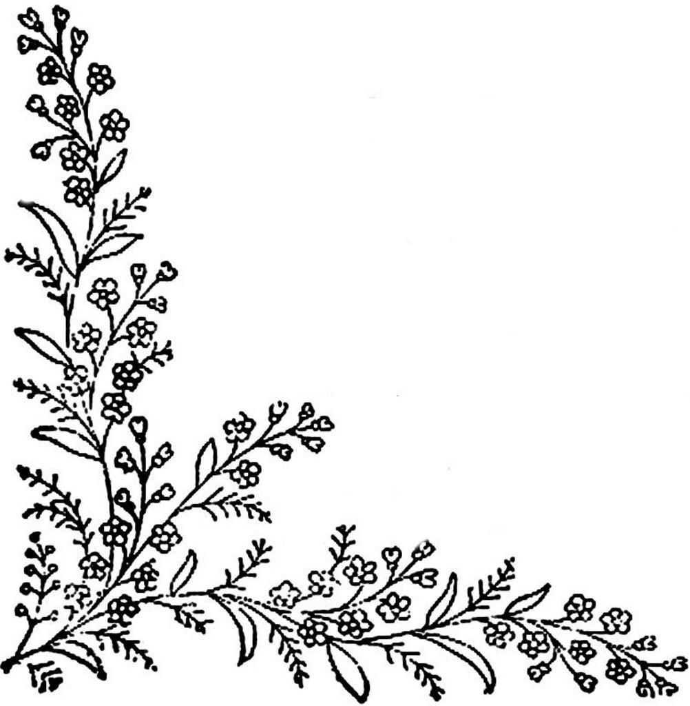 1886 Ingalls Floral Corner2 | Patrones, Varios y Bordado
