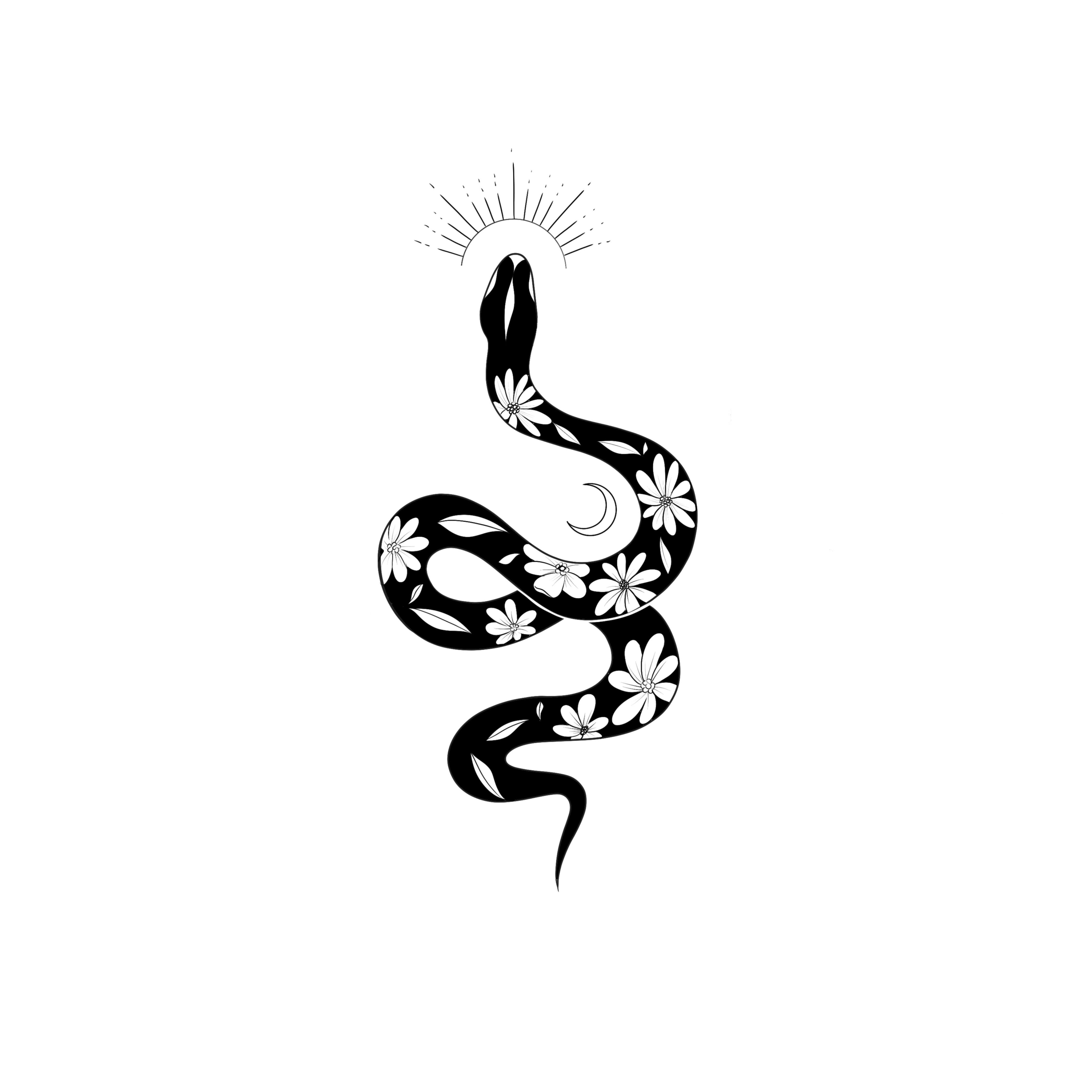 Photo of Black & white snake tattoo – by Mendjeli_tattoo