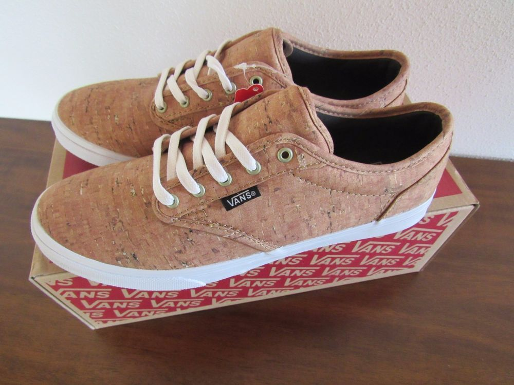 167f68de05 Atwood Low Deluxe. Vans Authentic Women Round Toe Canvas Tan Cork Sneakers  (Size 8 ). Featuring an all-over cork print