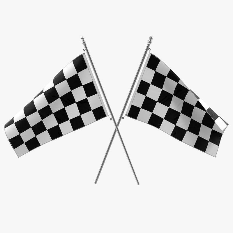 Racing Flag 3d Model 3d Model Ad Racing Flag Model