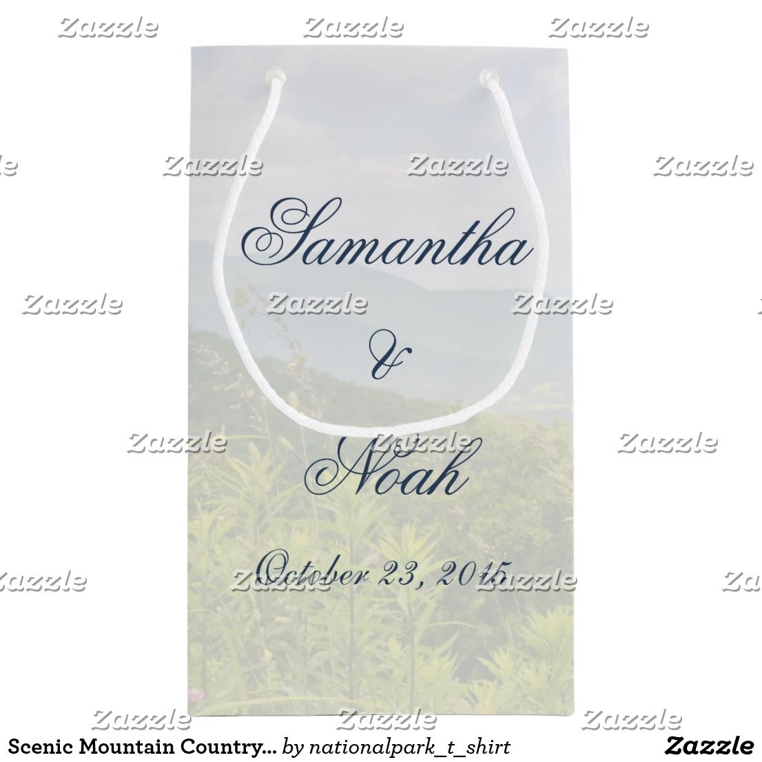 Scenic Mountain Country Wedding Small Gift Bag | Small gift bags ...