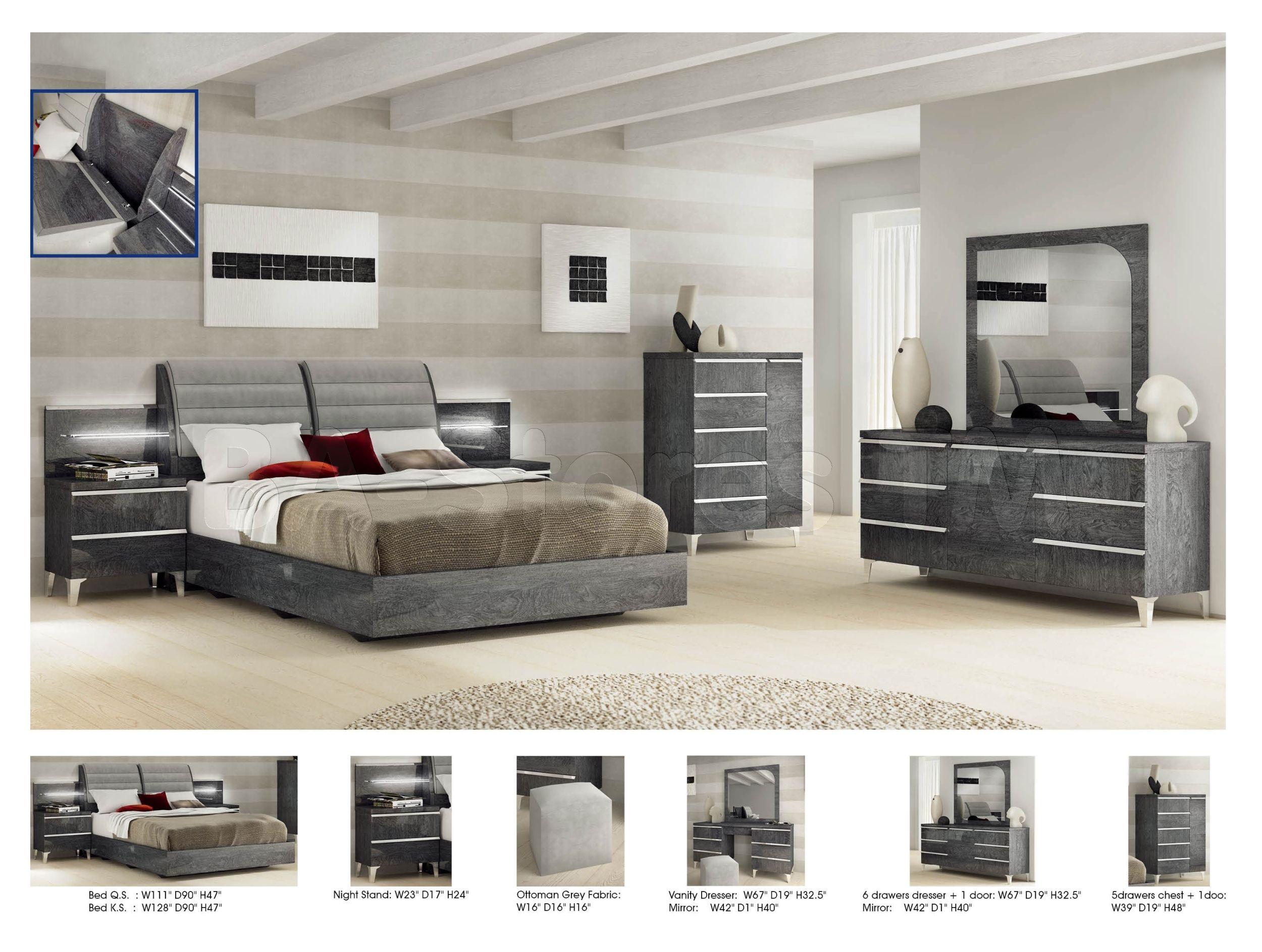 Elite Modern Bedroom Set by ESF