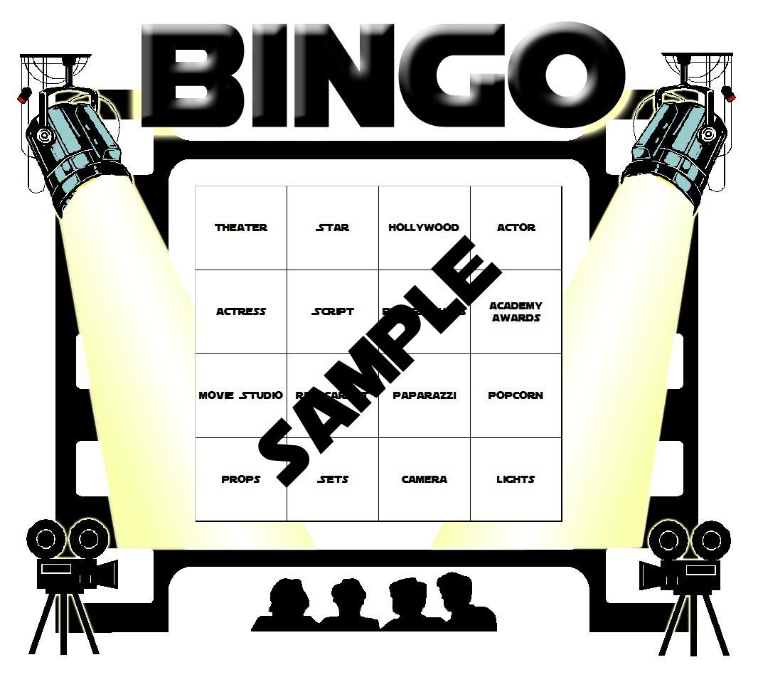 Hollywood Theme Classroom | Hollywood Themed Bingo Set | Classroom ...