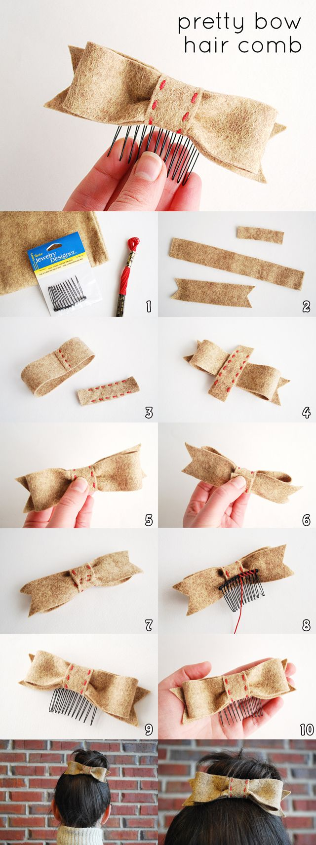 can also make for headbands and clips! cute!