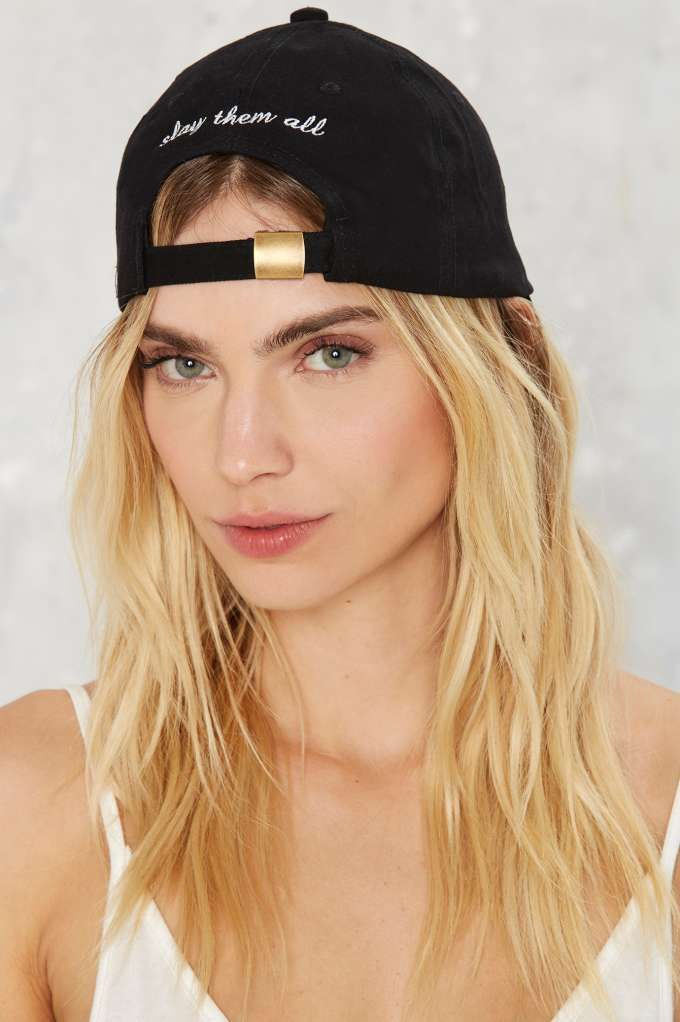 modern day hippie slay them all baseball cap hair hats back in stock attached