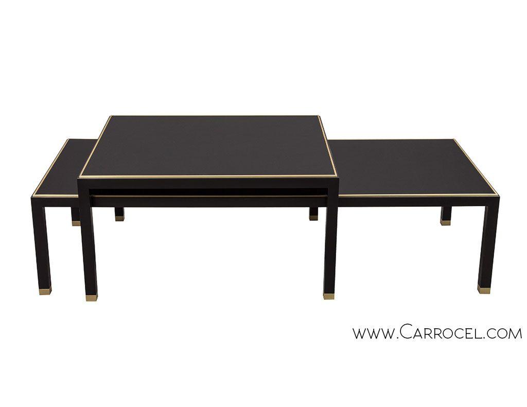 - Set Of Custom Modern Art Deco Inspired Cocktail End Tables