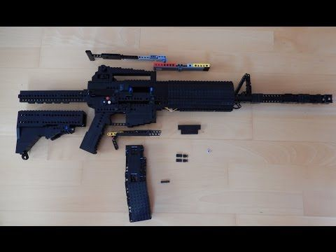 Lego M4a1 Instructions Youtube Guns Mechanism Pinterest