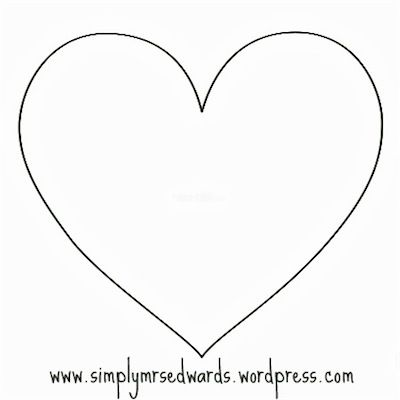 Long Heart Pattern. Use The Printable Outline For Crafts, Creating