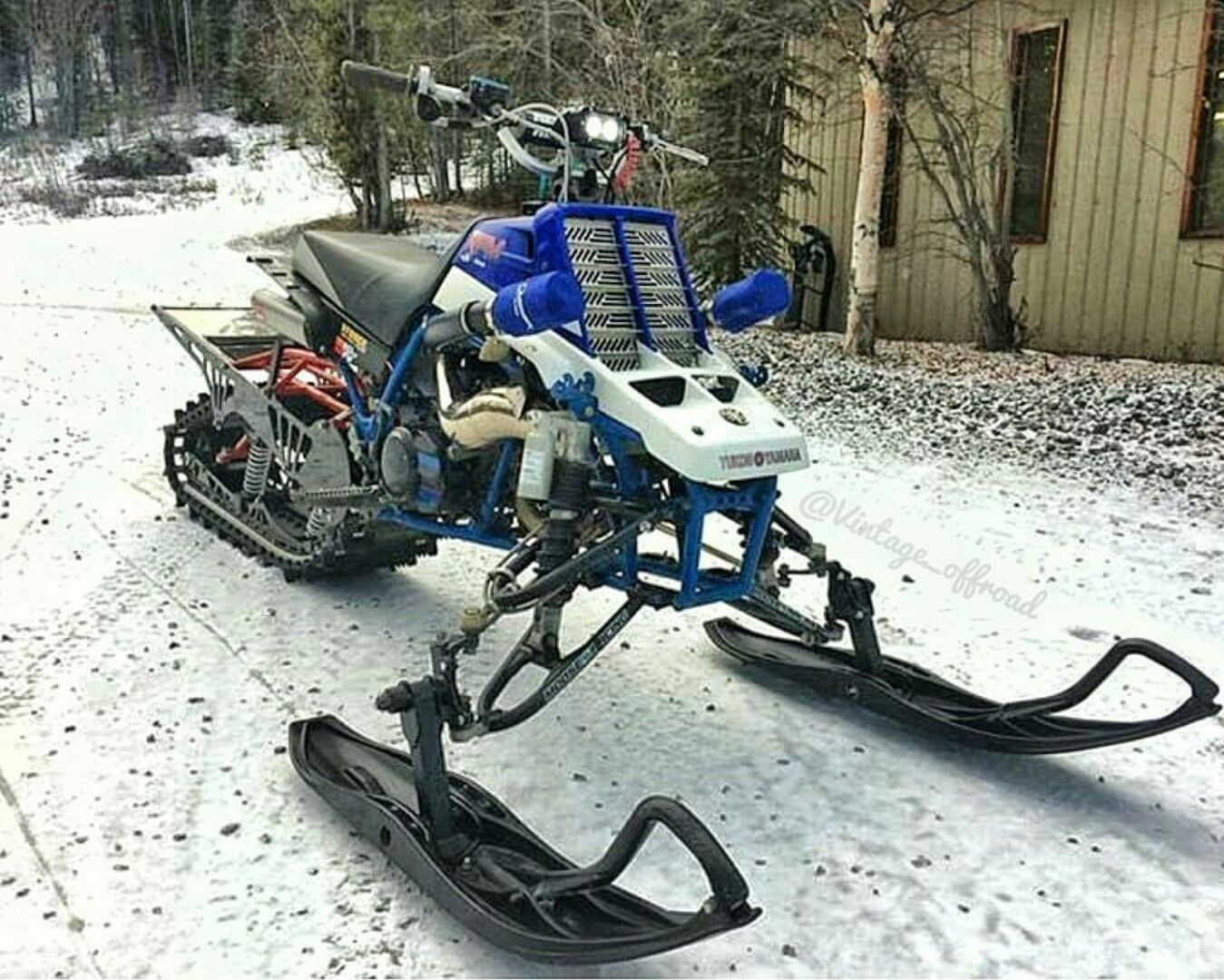 Made From A Banshee Yamaha Banshee Snow Vehicles Snowmobile