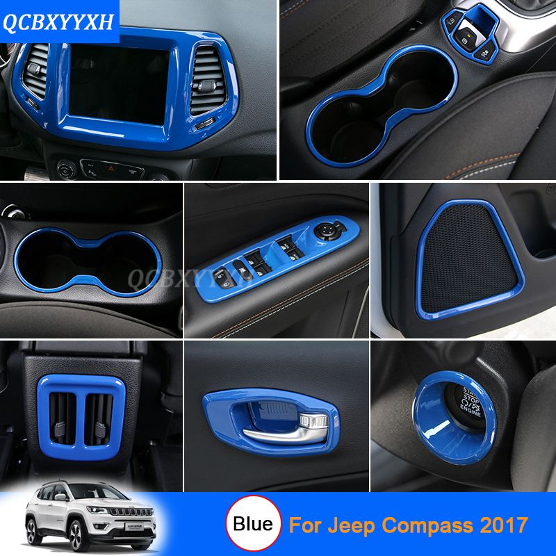 Car Styling Blue Color For Jeep Compass 2017 Car Interior
