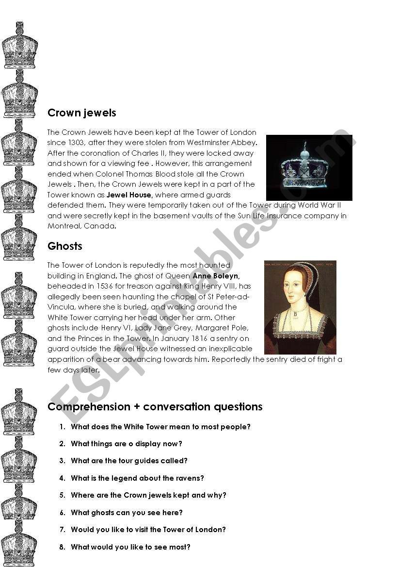 The Tower Of London Worksheet Tower Of London Tower Of London History London [ 1169 x 821 Pixel ]