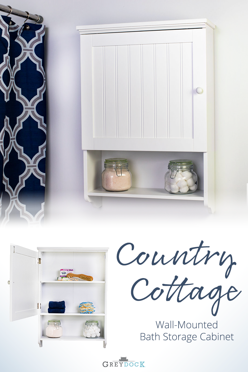 Bennington Country Cottage White Wall Mount Bathroom Medicine