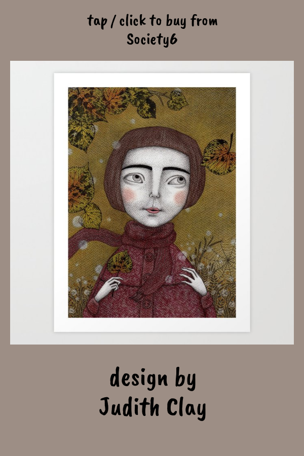 October Art Print by judithclay