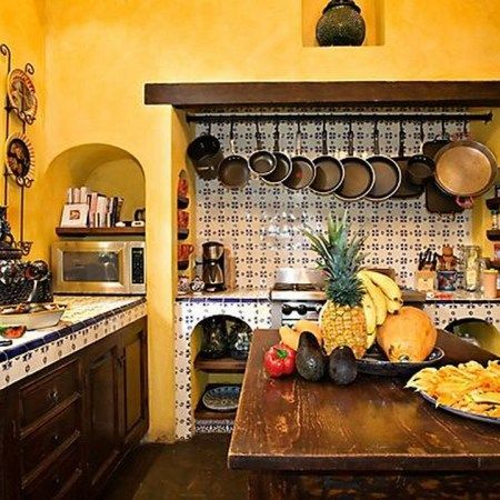 37 Colorful Kitchen Decorating With Mexican Style (32) #whitegalleykitchens 37 Colorful Kitchen Decorating With Mexican Style (32) #whitegalleykitchens