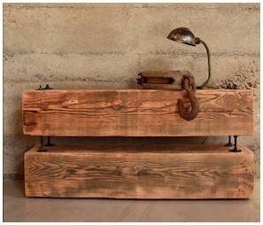 Barn beam side table   Diy furniture, Diy wood projects ...