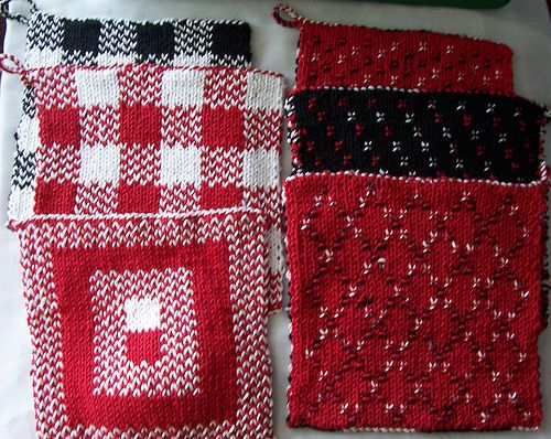 Oftroys Double Knit Potholders Knitting Pinterest Potholders