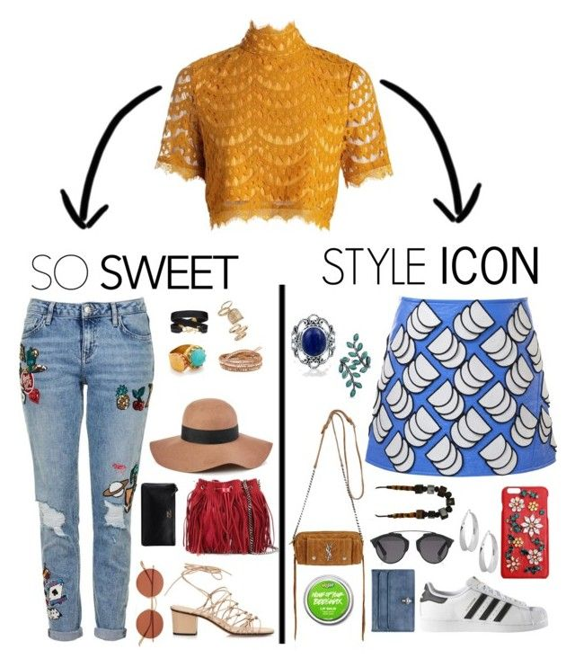 """Rave Fashion"" by flyme-to-themoon ❤ liked on Polyvore featuring Courrèges, Topshop, Oliver Peoples, Chloé, adidas, Reiss, Robert Lee Morris, STELLA McCARTNEY, Yves Saint Laurent and Chan Luu"
