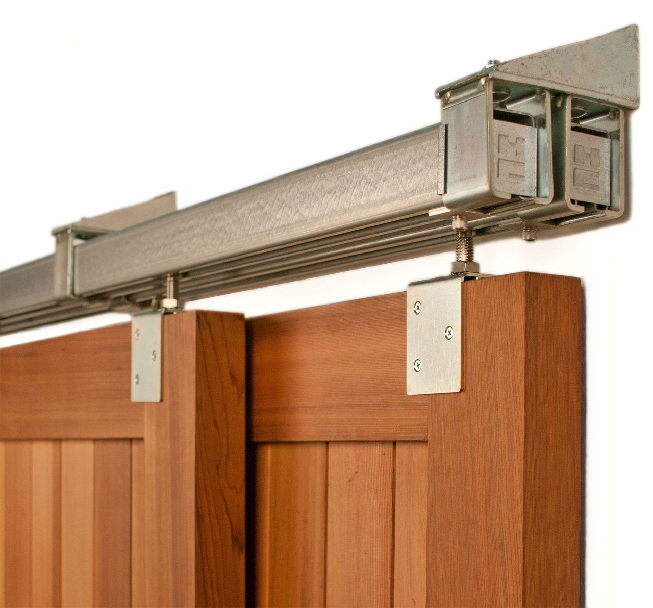 Superb Heavy Duty Industrial Bypass Box Rail Barn Door Hardware (500lb+)   Real  Sliding Hardware