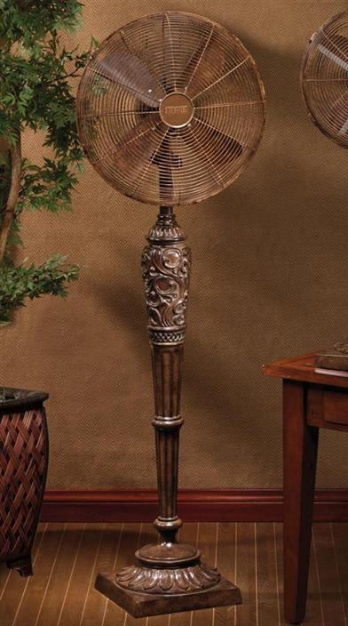 Ornamental Floor Fan  Antique Brown Fan  Standing fans, Floor