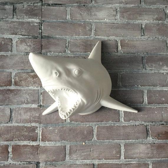 ANY COLOR Shark Head Wall Mount // Faux Taxidermy // Wall ...