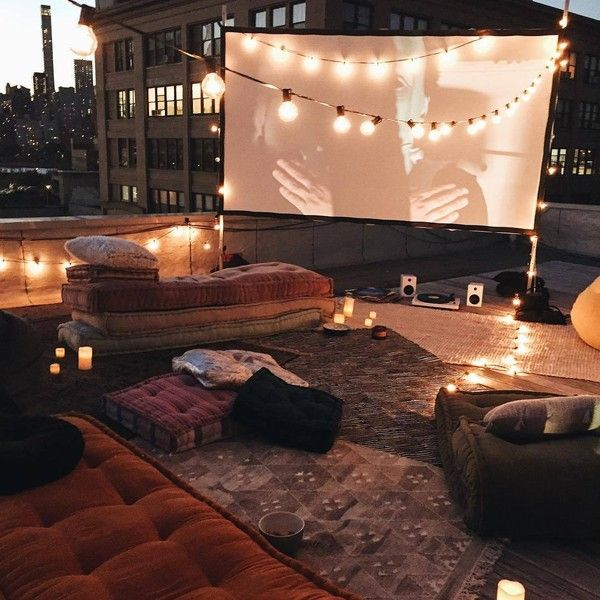 US@UO Rooftop Movie Screening Liked On Polyvore Featuring