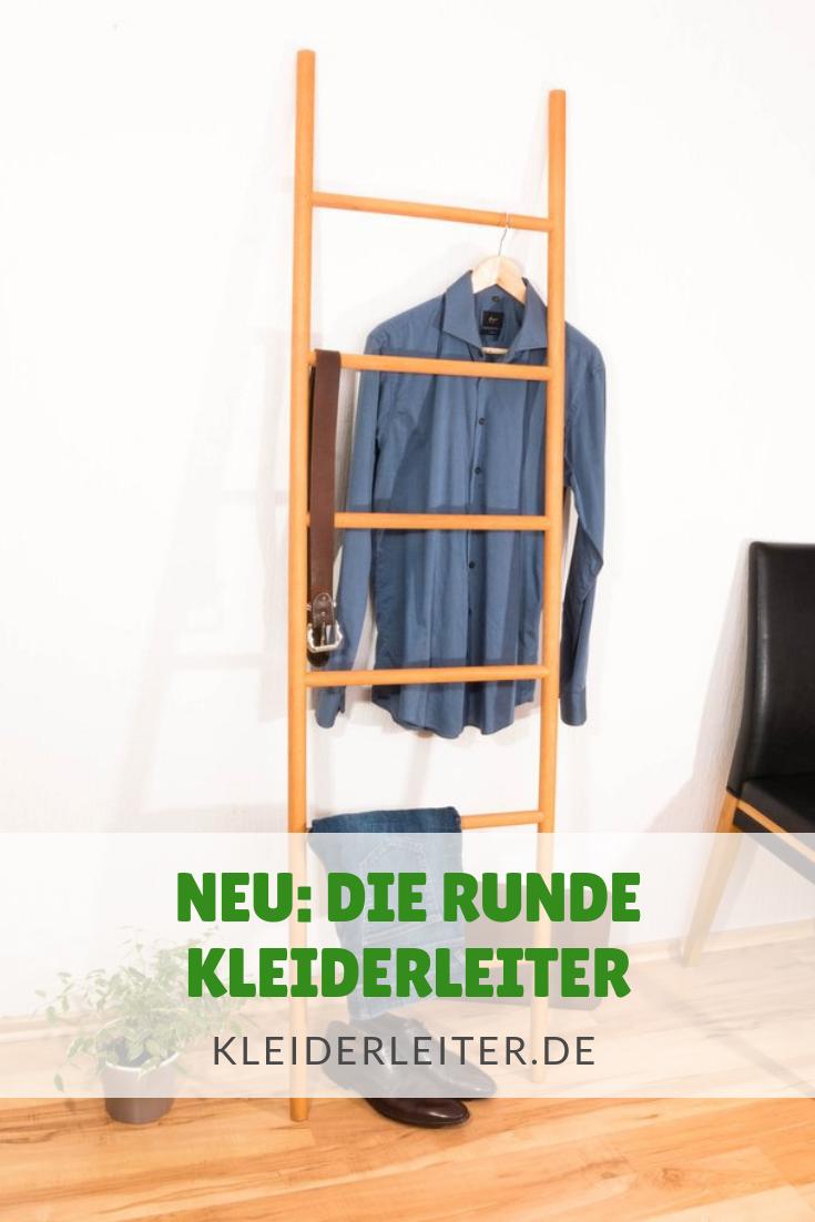 Runde Kleiderleiter Natur Geolt Eiche Buche Nussbaum Oder Schwarz Kleiderleiter Kleiderstuhl Und Wandgarderobe