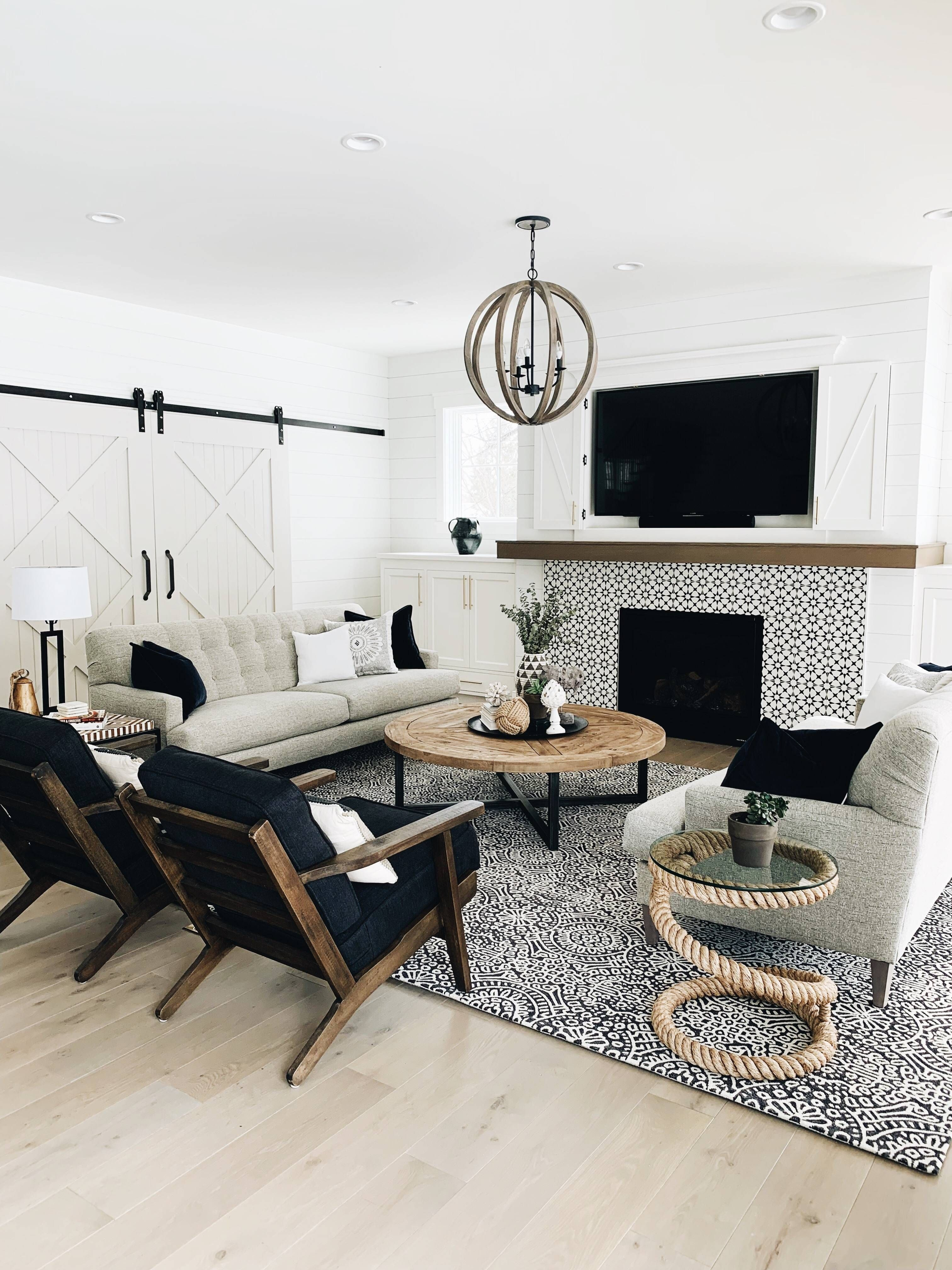 Photo of Modern Farmhouse Family Room Inspiration – This Delightfull Life