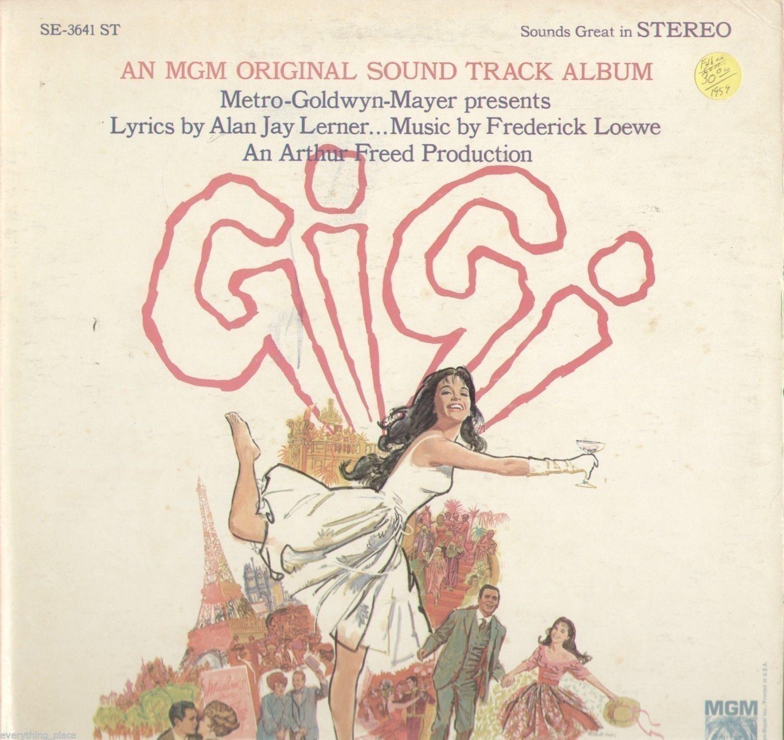 Gigi Movie Soundtrack Vinyl Lp Record Album Movie Soundtracks Gigi Movie Metro Goldwyn Mayer