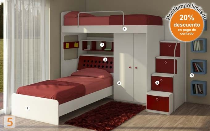 placard cama incluida buscar con google bunk beds. Black Bedroom Furniture Sets. Home Design Ideas