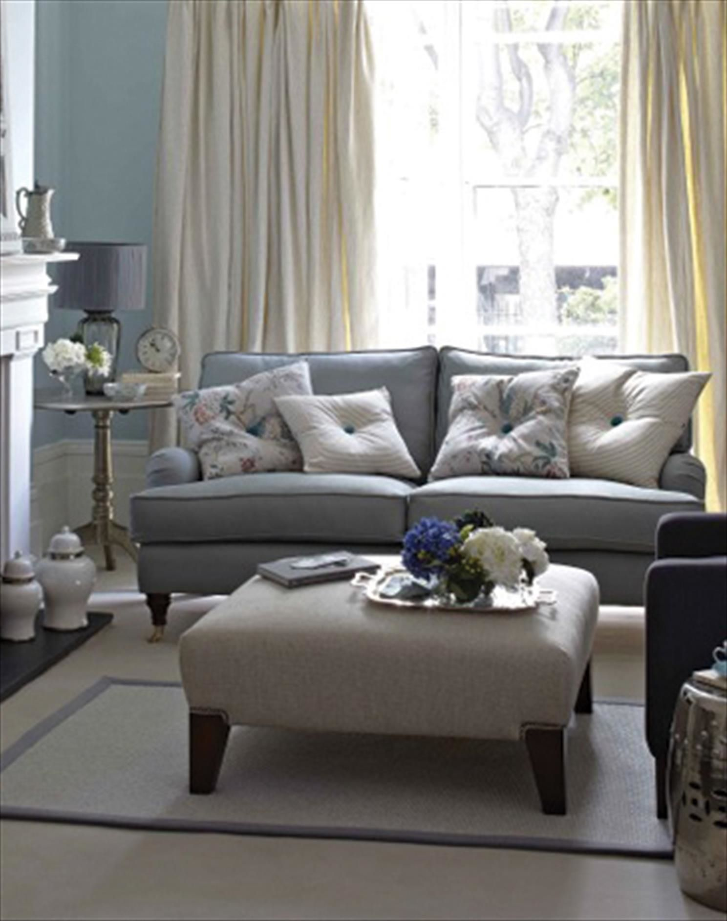 Sort of? | Blue living room, Cream living rooms