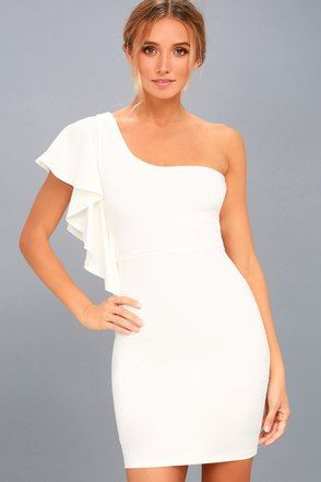 d72f7c4692615 Live my Life White One-Shoulder Bodycon Dress 6