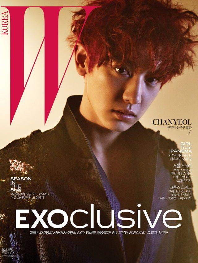 EXO Chanyeol - W Korea Magazine July Issue '16