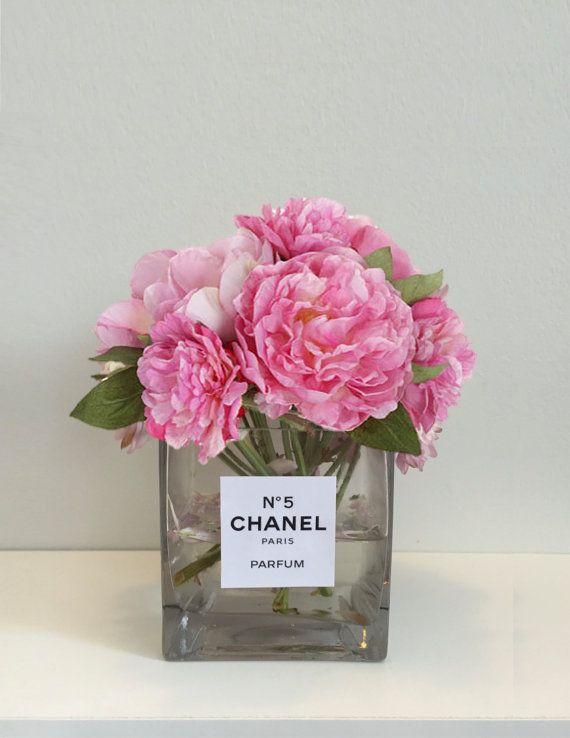 parf m flasche inspiriert klar glasvase 4 x 4 von ruedesrosiersnyc living pinterest. Black Bedroom Furniture Sets. Home Design Ideas