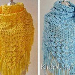 красивые шали вязание крючком шарфы и шали вязание вязание