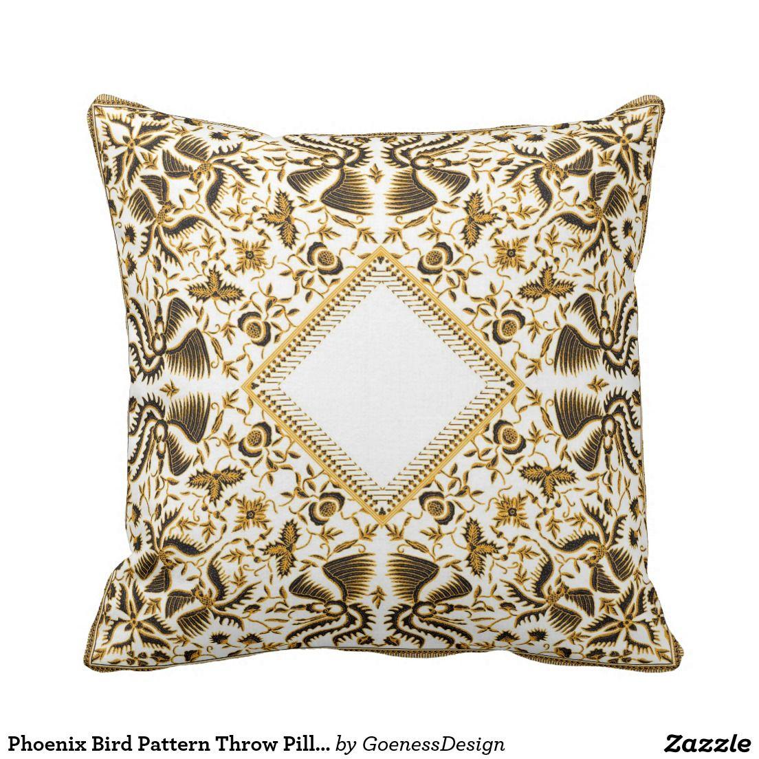 Küchendesign-logo phoenix bird pattern throw pillow  phoenix bird