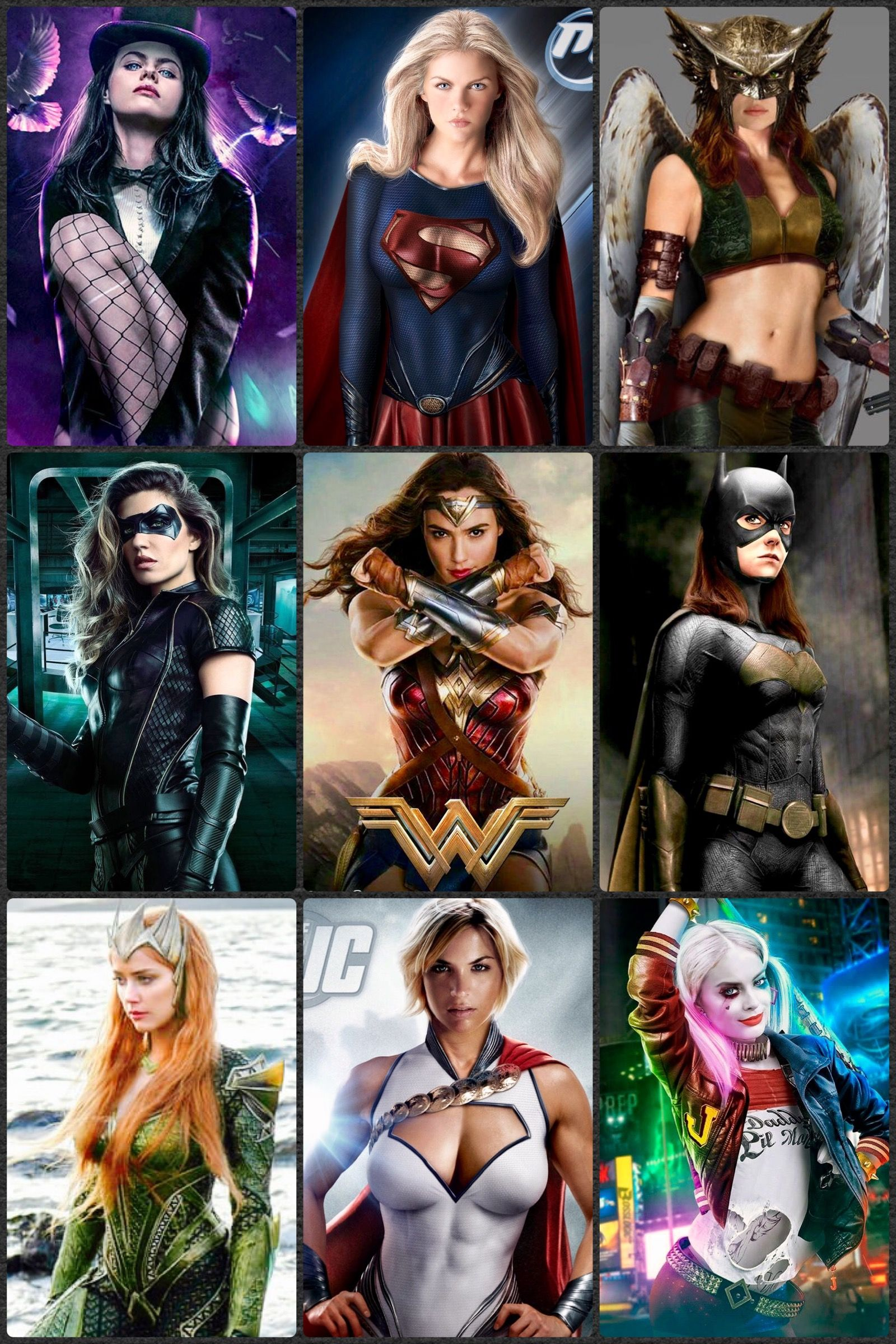 All dc female heroes